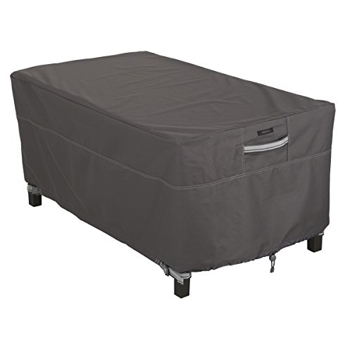 Classic Accessories 55-327-015101-EC Ravenna Water-Resistant 48 Inch Rectangular Patio Coffee Table Cover, Taupe, X-Large