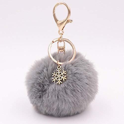 Llavero Colgante Encantos Peludo Esponjoso Llavero De Bola De Felpa para Mujer Bolsa Accesorios Ornamento-22