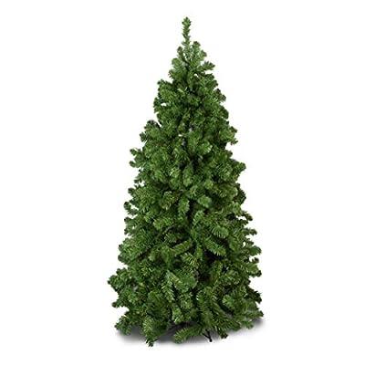 Green Bushy Canadian Pine Luxury Artificial Christmas Tree   6.5 ft Tall