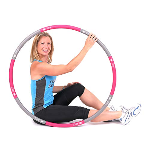 ResultSport The Original Foam Padded Level 1 Weighted 1.2kg (2.65lbs) Fitness Exercise Hoop 100cm wide