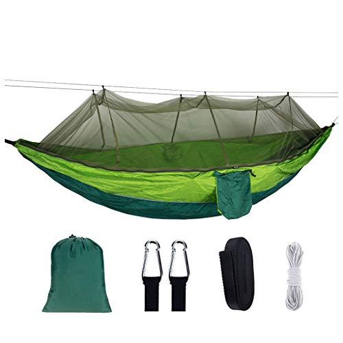 SuperSU Schlafen Outdoor Tragbares Camping-Hängebett Und Moskitonetz, Faltbarer Schaukelbett-Hängesessel, Schnell Öffnende Hängematte