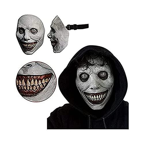 Máscara de Halloween espantosa, máscara de demonio realista de látex para fiestas...