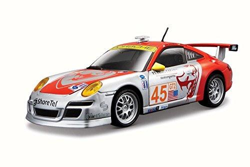 Porsche 911 (997) GT3 RSR, No.45, Flying Lizard Motorsports, ALMS , Modellauto, Fertigmodell, Bburago 1:24