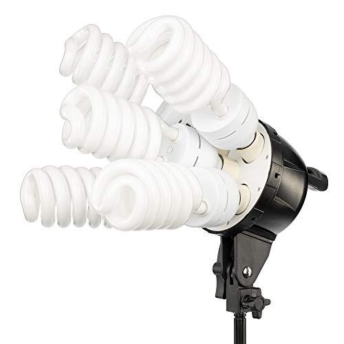 Kit de iluminación de estudio fotográfico y de vídeo con caja de luz 20 x 28 '2 500 Watts una caja de luz one-quick EZ Setup, un brazo telescópico con trípode jirafa y 1 - Maletín de transporte