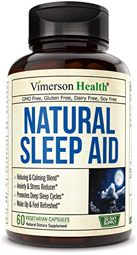 Natural Sleep Aid Pills with Valerian, Melatonin and Natural Herbs. Premium Quality Sleeping Supplement with Chamomile, Vitamin B6, L-Tryptophan, Ashwagandha, L-Taurine, St. John's Wort, L-Theanine