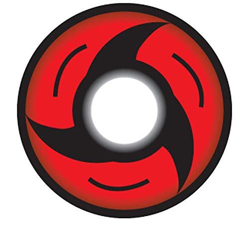 Matlens - Crazy Fun Motiv Cosplay Farbige Naruto Sharingan Kontaktlinsen serie Mangekyo Itachi Uchiha rot CP-S4 2 Linsen 1 Kontaktlinsenbehälter 1 Pflegemittel 50ml