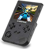 MJKJ RG351V Handheld Game Console , Open Source System Built-in WiFi Online Sparring 64G TF Card 2500 Classic Games Support PSP / PS1 / N64 / NDS , 3.5inch IPS Screen Retro Game Console(Black)