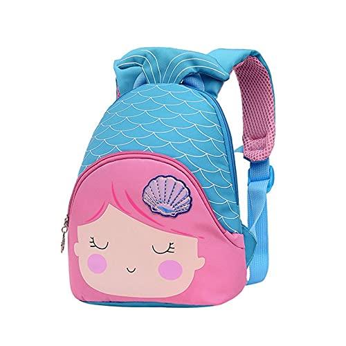 3D Little Sirena Princess Bolsos de la Escuela para Las niñas Lindas Bolsas Dulces Kindergarten Niños Mochilas para niños Regalo (Color : 3)