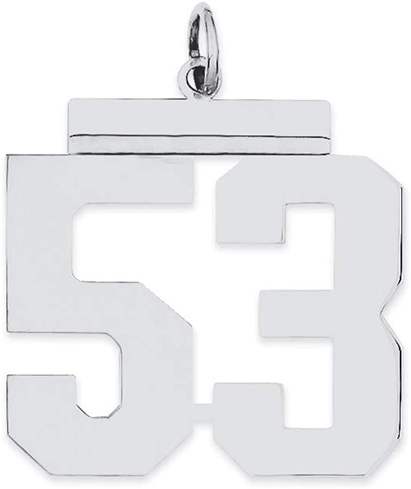 Max 59% OFF Ryan Jonathan Fine Jewelry Sterling Large 2021 new 53 Charm Silver Number