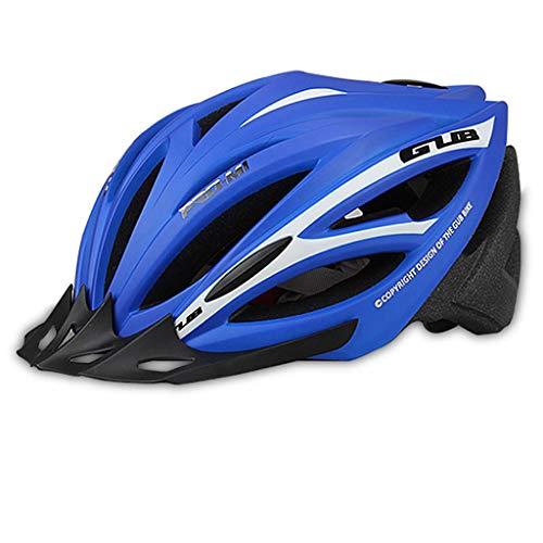 NJ helm voor mountainbike, rijhelm, eendelige mannen en vrouwen, met capuchon, uitgerust met helm Large blauw
