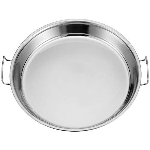 XICHENGSHDIAI Edelstahl-Pfanne für Liangpi, gedämpften Reis flaches Chassis Kuchenplatte, edelstahl-22cm