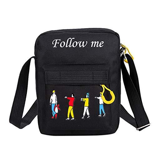 Lowest Price! Women's Shoulder Bag Fashion Follow me Printed Casual Outdoor Canvas Bag Handbag Zippe...