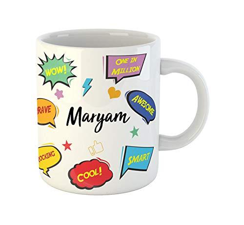 ARTBUG™ Maryam Name Ceramic Coffee Mug