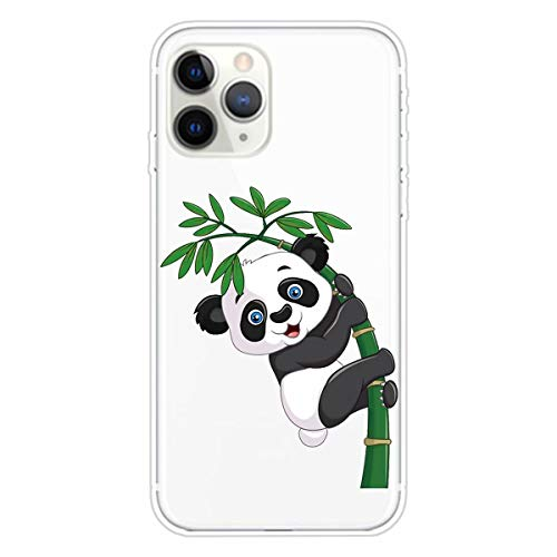 Miagon Transparent Hülle für iPhone 11 Pro Max,Bambus Panda Muster Kreativ Süße Durchsichtig Klar Soft Ultra Dünn Silikon Case Cover Schutzabdeckung