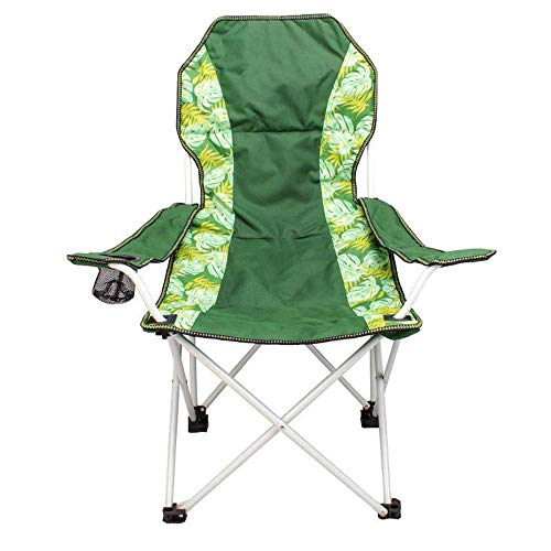 SPRINGHUA Silla plegable portátil de la mariposa de la silla del apoyabrazos de la silla de la pesca taburete simple al aire libre del camping del