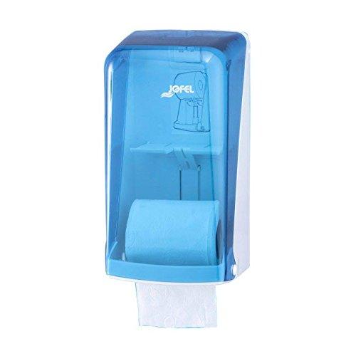 Jofel AF51200 Azur Portarrollos Doble, Doméstico, 2 Rollos, Azul