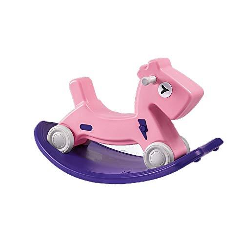 LRHD Due-purpose veicolo di cavallo a dondolo, Equitazione Giocattoli for bambini dai 1-3 anni, Outdoor Indoor bambini/bambini a cavallo Giocattoli, Sedia a dondolo Giocattoli, regali di compleanno