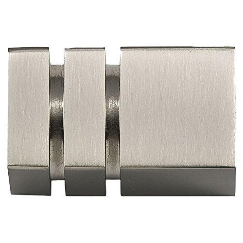 Barres de rideau – Borne carrée en acier inoxydable diamètre 30 mm.