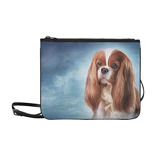 Modedesign Tasche Zeichnung Hund Cavalier King Charles Spaniel Verstellbarer Schultergurt Clutch Bag Für Damen Für Frauen Mädchen Damen Clutch Bag Damen Umhängetasche