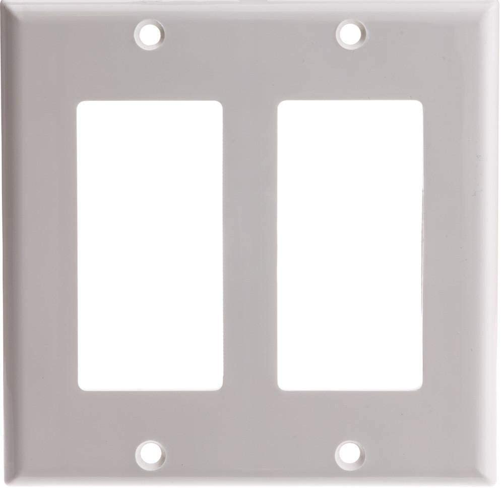 GOWOS 50-Pack Decora Wall Plate Gang 2 Hole New Orleans Mall Dual Sales of SALE items from new works White