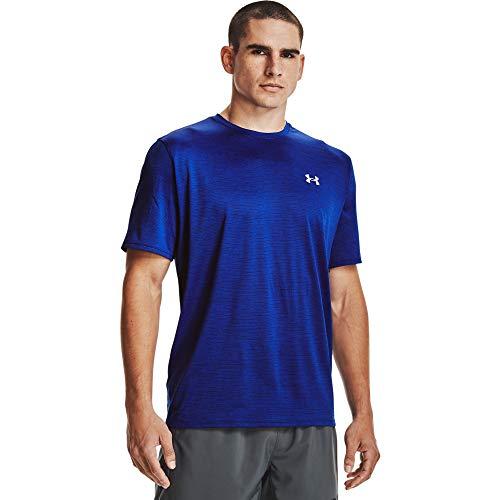 Under Armour Tech 2.0 Shortsleeve, atmungsaktives Sportshirt, kurzärmliges und schnelltrocknendes Trainingsshirt mit loser Passform Herren, Cosmos / Black, XL