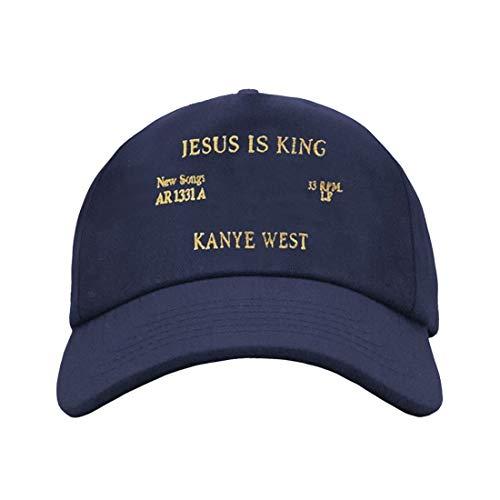 Gorra de béisbol Wuwi Kanye West Jesus is King, color negro
