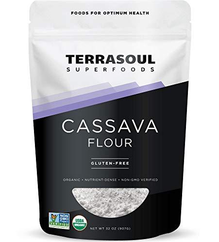 Terrasoul Superfoods Organic Cassava Flour, 2 Lbs - Tested Gluten-Free | Smooth Texture | Wheat Flour Substitute
