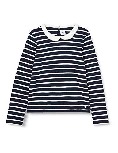 Petit Bateau Mädchen 5604101 T-Shirt, Rauchen/Eibisch, 8 Jahre