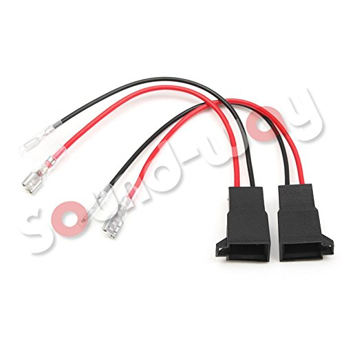sound-way 2X Cables Adaptateurs Enceintes Haut-parleurs Compatible avec Opel, Seat, Volkswagen