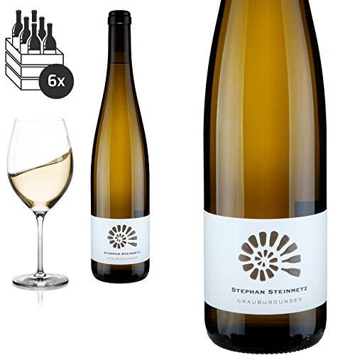 12er Karton 2018 Grauburgunder trocken von Weingut Stephan Steinmetz - Weißwein