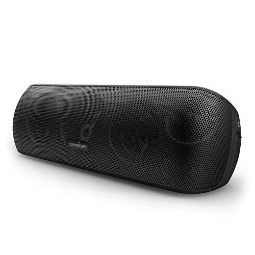 Soundcore Motion+ Bluetooth-Lautsprecher mit Hi-Res 30W Audio, BassUp, Kabelloser HiFi Lautsprecher mit zugehöriger App, Flexibler EQ, 12 Stunden Akkulaufzeit, IPX7 (Generalüberholt)