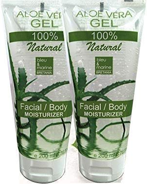100% Natural Gel de Aloe Vera (Pack Ahorro 200 ml x 2) -  Gel Acondicionador -  Gel Cabello Gel Después del Sol/de Afeitarse
