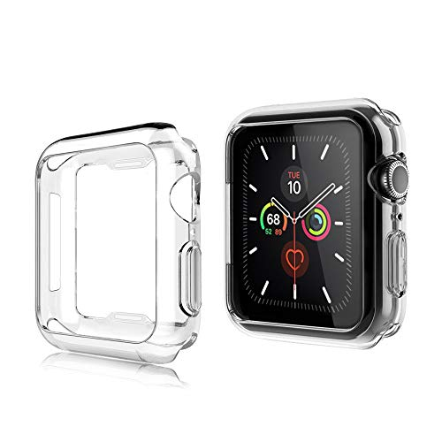 AsBellt Funda para Apple Watch 40mm Series 6 5 4 SE (2 Unidades) Protector de Pantalla, Carcasa de iWatch 40mm Serie 6/5/4/SE Hermès, Nike+ Edition