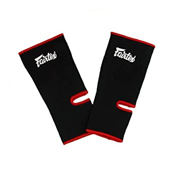 Fairtex Ankle Guard Support Protector Color Black for Protection in Muay Thai Boxing Kickboxing MMA  Black