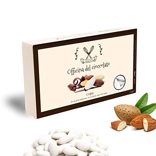 Officina del Cioccolato Scelta tra Tanti Colori Confetti Bianchi Classici alla Mandorla - 1 kg