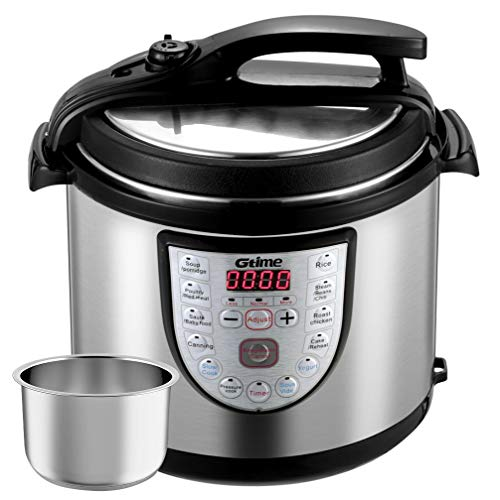 Electric Pressure Cooker 8 Qt Slow Cook Programmable 18 Kinds of Cooking Option with Stainless Steel Inner Pot,Rice Cooker,Egg Cooker,Hot Pot,Baking,Cake,Steamer,Yogurt,Sous Vide,Scouring Pad,24-Hour Timer