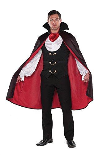 shoperama Vampir Herren-Kostüm True Vampire Fürst der Finsternis GRAF Dracula Karneval Fasching Karnevalskostüm Halloween, Größe:M