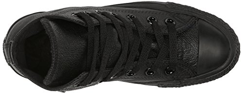 Converse Men's Chuck Taylor Leather High Top Sneaker Black Monochrome 4 M