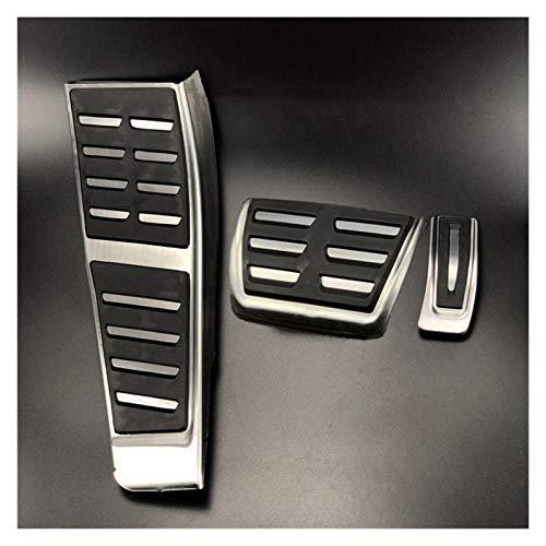 ZXC Acero Inoxidable de Combustible for automóviles Freno Reposapiés Pedales for Audi A4 S4 B8 8K / A5 S5 8T / Q5 Apto for diestros Lado de accionamiento Atmósfera Simple