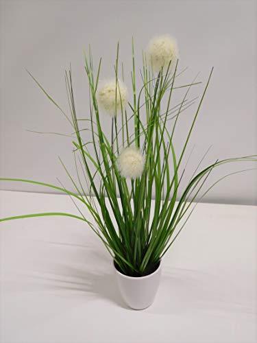 Grasbusch Gras Ziergras Kunstpflanze Dekopflanze H 35 cm 56727-05-2 getopft F43