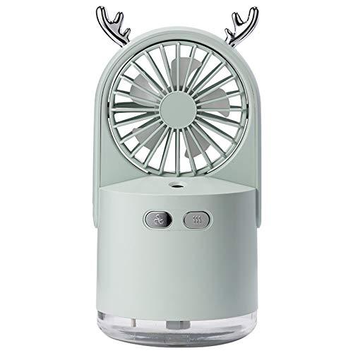 BOINN Ventilador USB PortáTil con Difusor de Aire Refrigerador Ventilador Escritorio Escritorio Ventilador Humidificador Verde