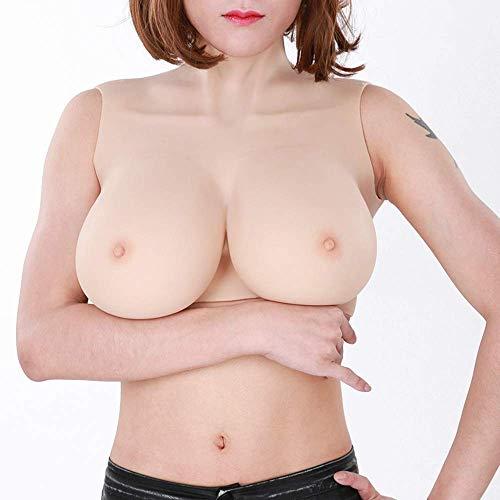 Weibliche Brust Resektion Brustprothese - Crossdressers Silikon Brüste Realistische falsche Brüste - Transgender Cosplay Brust-Vergrößerer-Kostüm,Asianyellow,GCup
