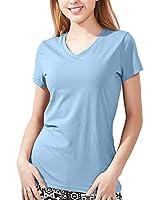 Zengjo Womens T Shirts Short Sleeve(XL,Baby Blue)