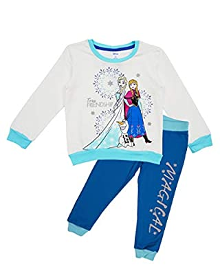 Disney Frozen Toddler Baby Girls Crew Neck Sweatshirt and Legging Set, Grey/Blue/Turquoise Blue, 6X