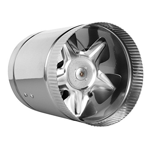 """TeraBloom 6"""" Inline Fan - 240 CFM, Metal Duct Fan, ETL Listed, Pre-Wired 6 FT Grounded Cord - Great For Grow Tent Exhaust and Intake, Register Booster For 6 Inch Ducts"""