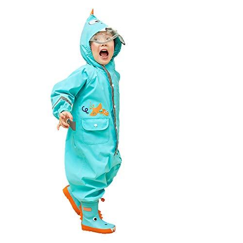 Kinder Wasserdicht Regenmantel - Jungen Mädchen Regen-Overall Regenanzug Regenkleidung Regenjacke Tier Jacke Regenponcho für Schule,Draussen,Camping