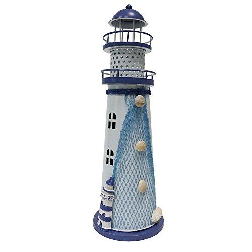 JAROWN LED Que Cambia de Color Farol Metal, luz Nocturna océano Faro lámpara de Boda, Hierro Fundido, 19cm