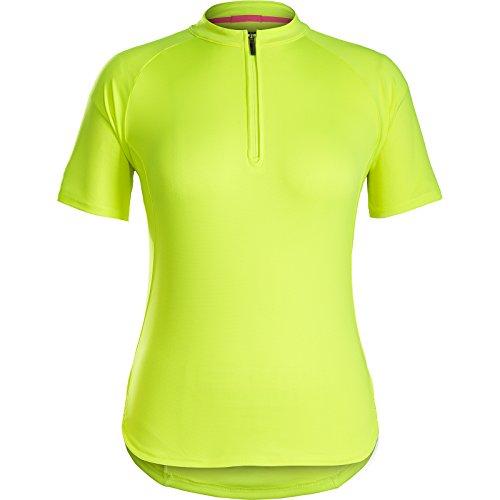 Bontrager Kalia Damen Fahrrad Trikot kurz gelb 2021: Größe: L (38/40)