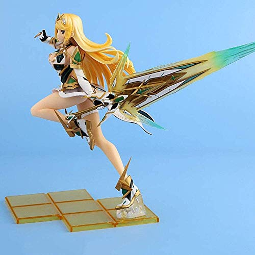 GOXJNG Anime Figure Action Figure Xenoblade Chronicles 2 Mythra 27cm Figur Collection Ornamente Dekoration Modell Kinder Spielzeug Puppe Geschenk (Color : Mythra)