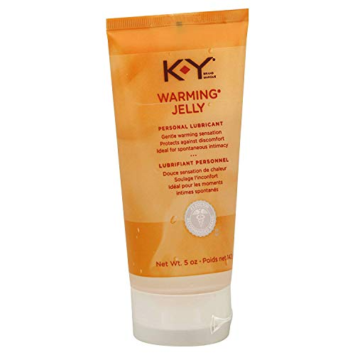 K-Y Warming Jelly Personal Lubricant (5 oz), Premium Non-Greasy Warming Lube for Women, Men & Couples